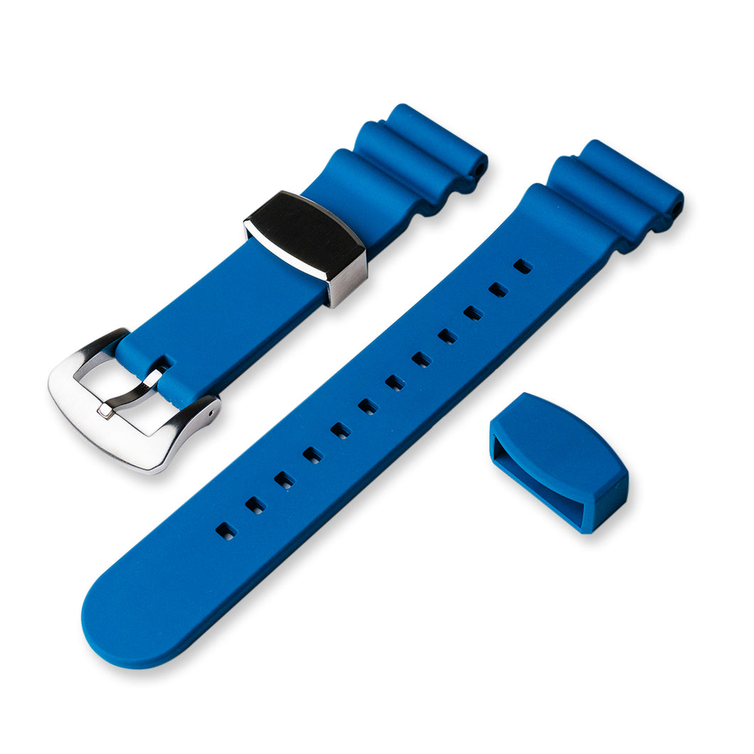 RS0564 22mm Flouro Rubber Strap - Blue