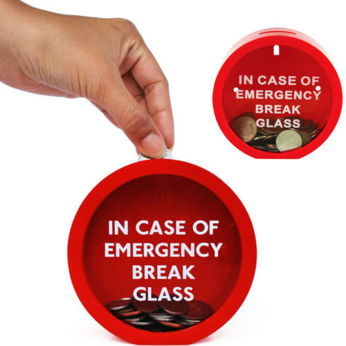Novelty Emergency Savings Box