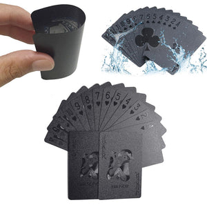 Black Waterproof Playing Cards