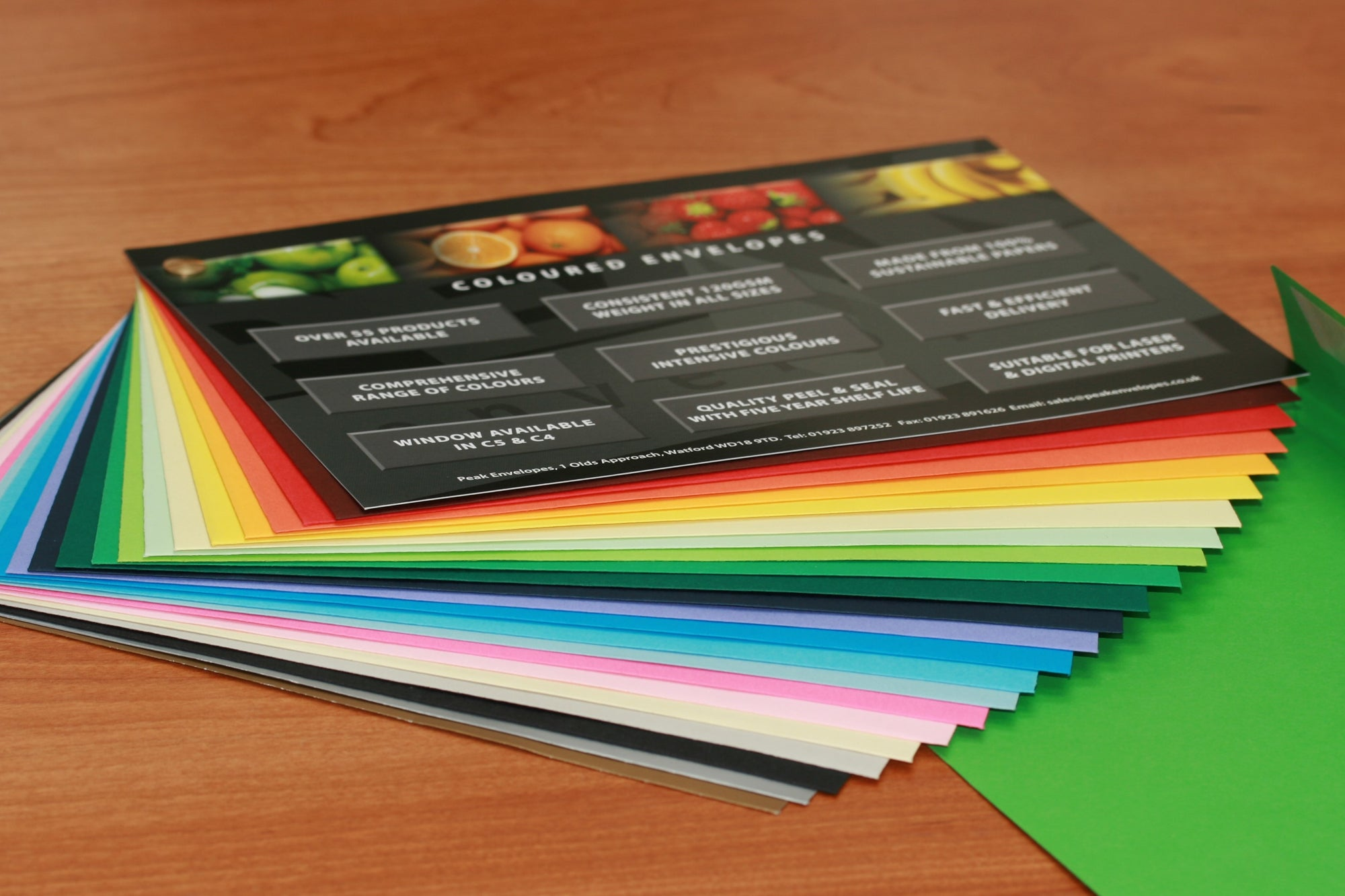 Cascade - Complete range of coloured envelopes