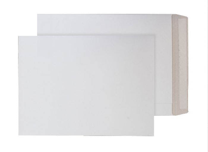 352 x 249mm B4 Himalayan White Peel & Seal All-board Pocket [Pack 100] 1103