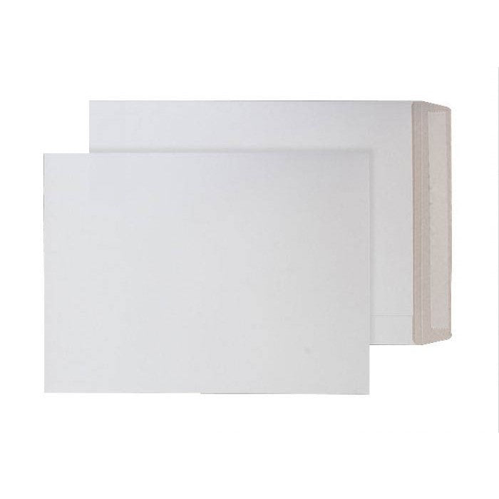 241 x 178mm  Himalayan White Peel & Seal All-board Pocket [Pack 100] 1107