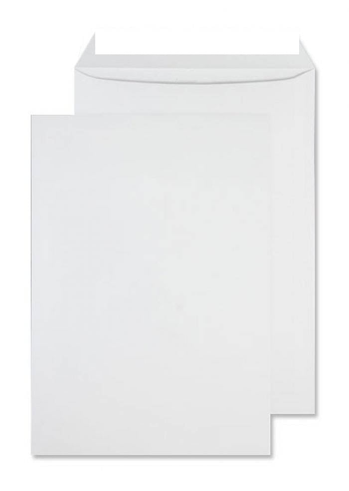 350 x 250mm B4 Whitney Brilliant White Peel & Seal Medium Board Pocket 1211
