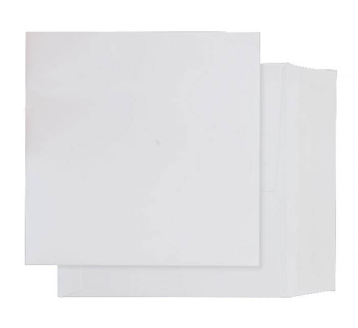 220 x 220mm  Whitney Brilliant White Peel & Seal Wallet 1245