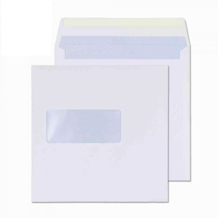 155 x 155mm  Cambrian White Window Gummed Wallet 2152