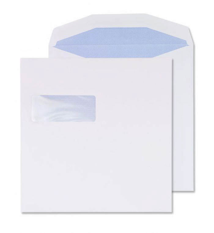 220 x 220mm  Cambrian White Window Self Seal Wallet [Pack 250] 2224