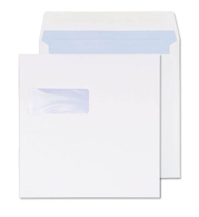 240 x 240mm  Cambrian White Window Gummed Wallet [Pack 250] 2242