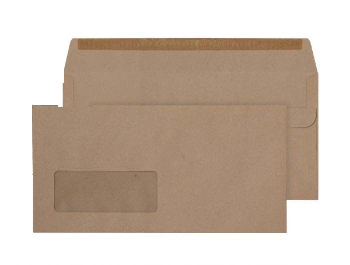 110 x 220mm DL Bowfell Manilla Window Self Seal Wallet 3306
