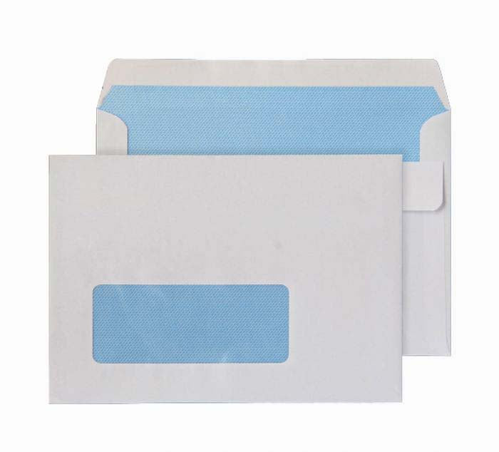114 x 162mm C6 Ben Nevis White Window Self Seal Wallet 3402