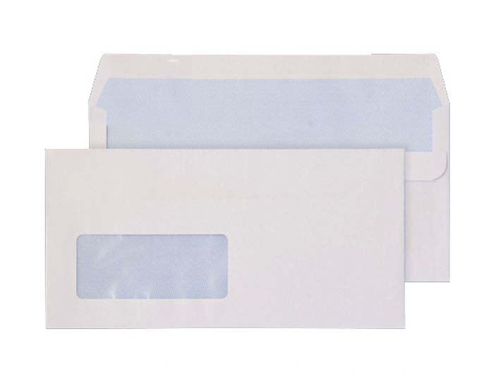 110 x 220mm DL Ben Nevis White Window Self Seal Wallet 3410