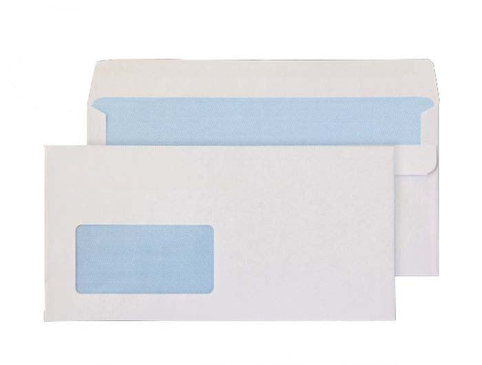 114 x 229mm  Ben Nevis White Window Self Seal Wallet 3414