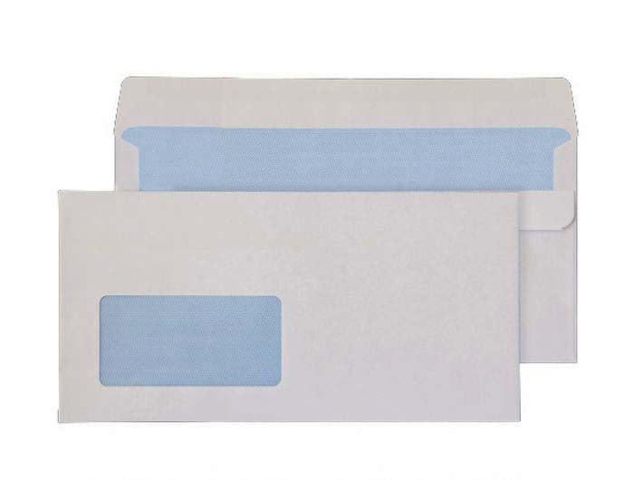 121 x 235mm  Ben Nevis White Window Self Seal Wallet 3416