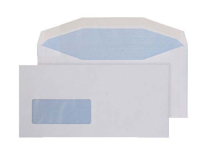 114 x 235mm  Pennine White Window Gummed Wallet 3718
