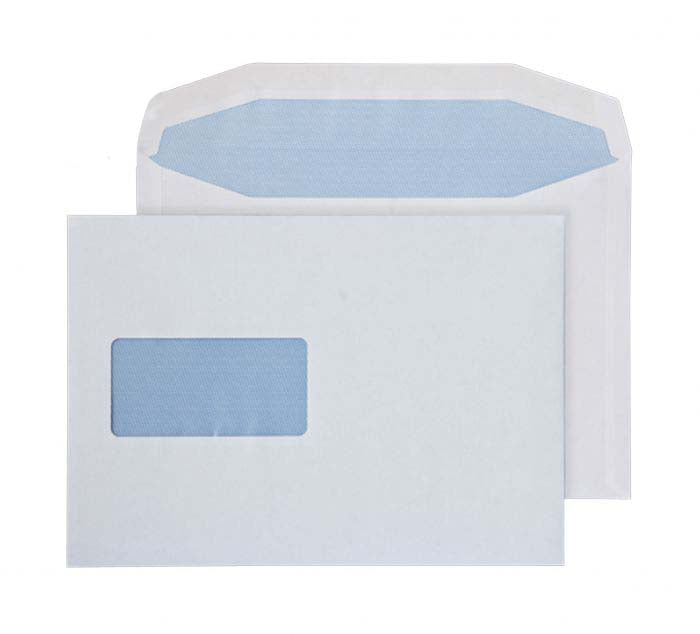 162 x 238mm  Pennine White Window Gummed Wallet 3722