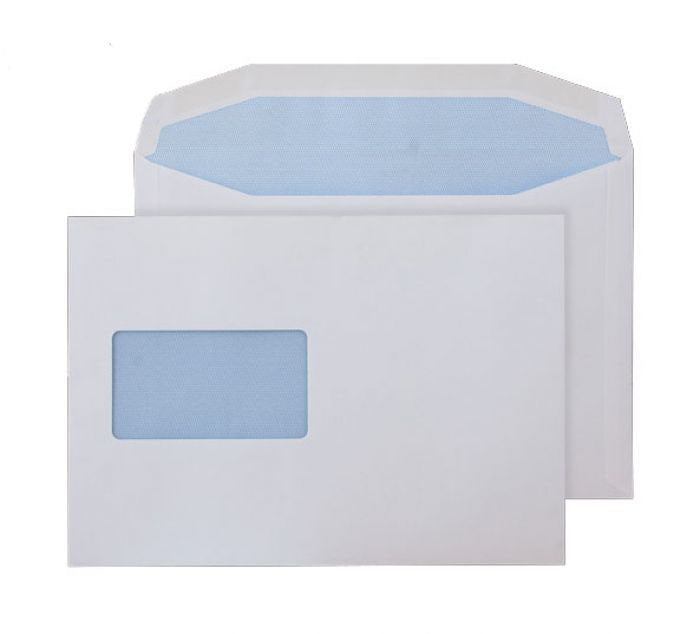 162 x 229mm C5 Pennine White CBC Window Gummed Wallet [Pack 500] 3758