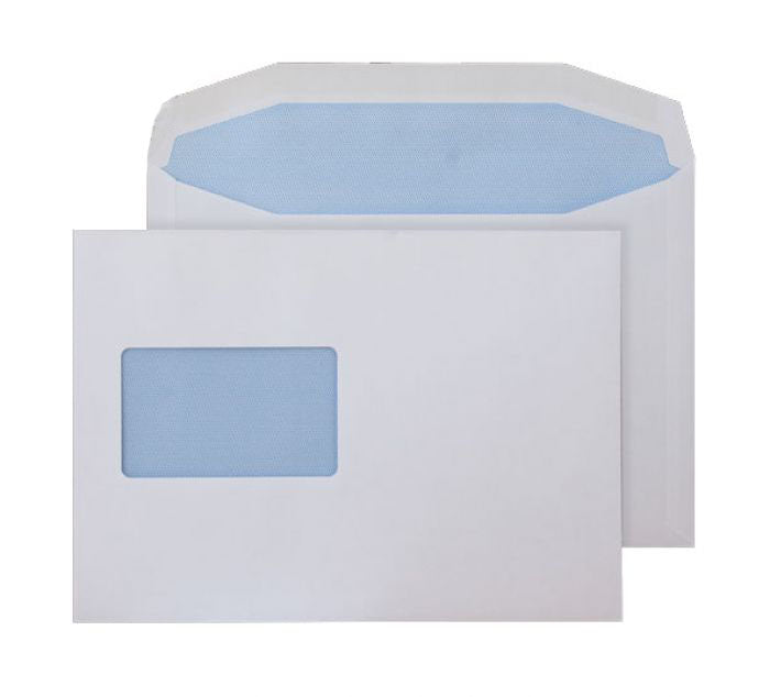 162 x 235mm  Pennine White CBC Window Gummed Wallet [Pack 500] 3762