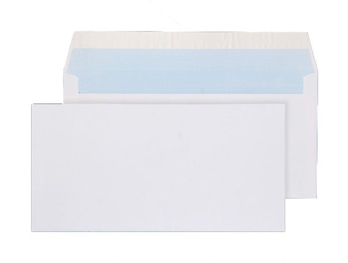 110 x 220mm DL Snowdonia White Peel & Seal Wallet 3869