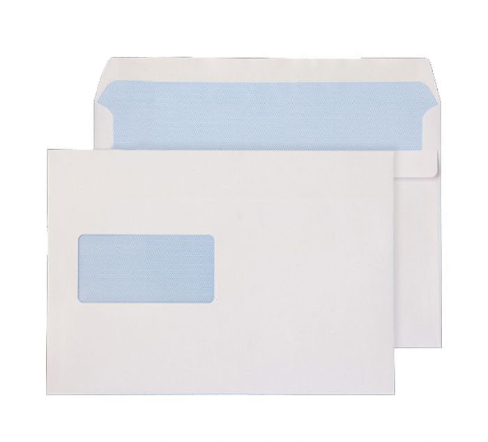 162 x 229mm C5 Scafell White Window Self Seal Wallet 3872