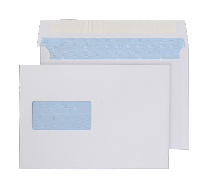 162 x 229mm C5 Snowdonia White Window Peel & Seal Wallet 3874