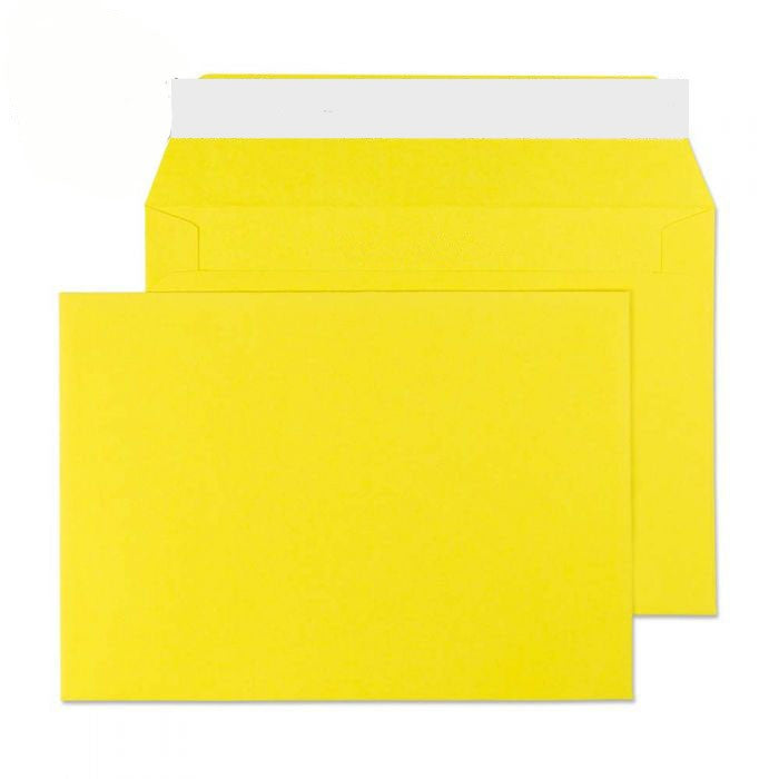 114 x 162mm C6 Cascade Canary Yellow Peel & Seal Wallet 5103
