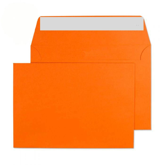 114 x 162mm C6 Cascade Sunset Orange Peel & Seal Wallet 5105