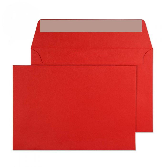 114 x 162mm C6 Cascade Pillar Box Red Peel & Seal Wallet 5106