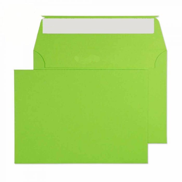 114 x 162mm C6 Cascade Lime Green Peel & Seal Wallet 5107