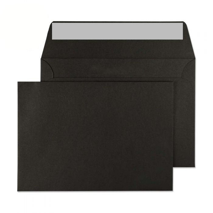 114 x 162mm C6 Cascade Black Peel & Seal Wallet 5114