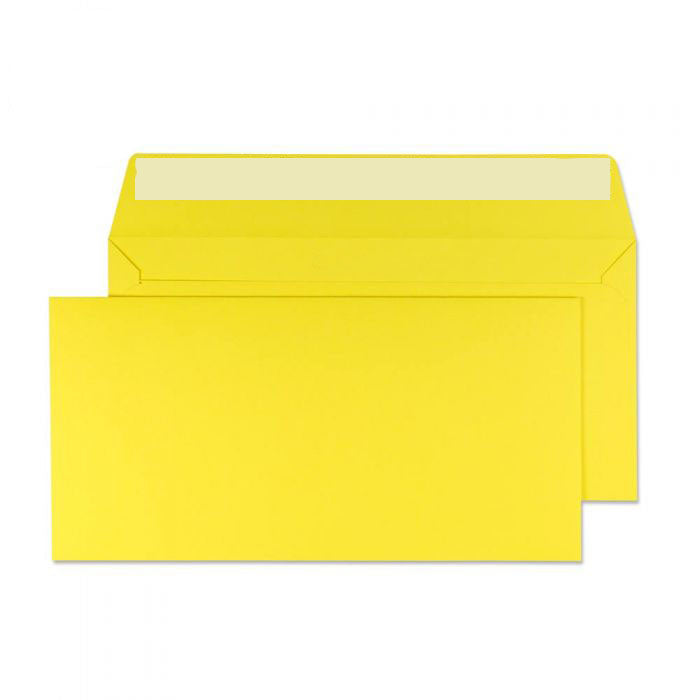 114 x 229mm  Cascade Canary Yellow Peel & Seal Wallet 5203