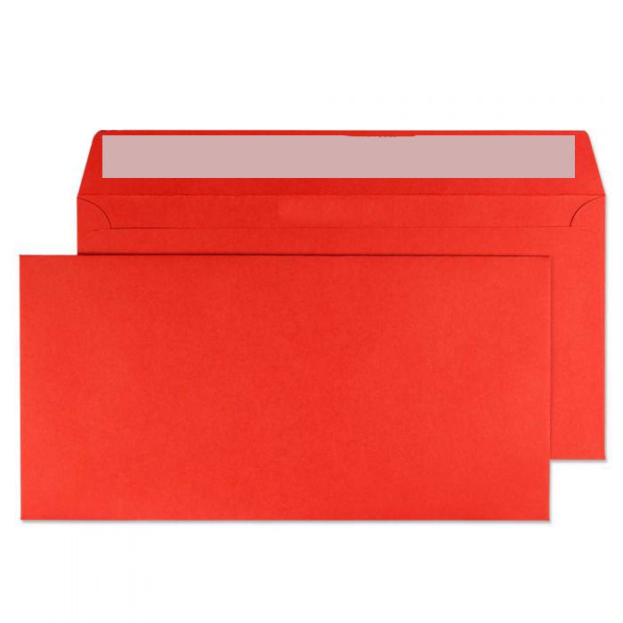 114 x 229mm  Cascade Pillar Box Red Peel & Seal Wallet 5206