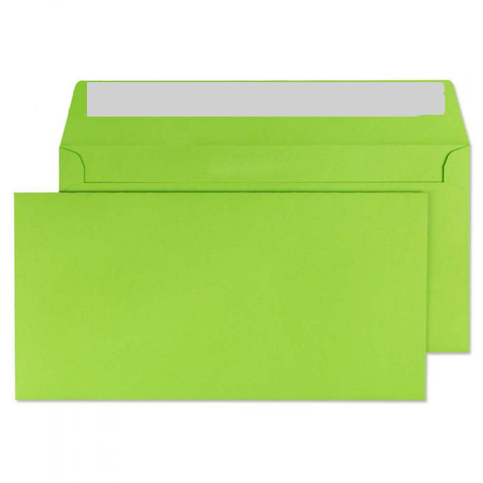 114 x 229mm  Cascade Lime Green Peel & Seal Wallet 5207