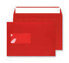 162 x 229mm C5 Cascade Pillar Box Red Window Peel & Seal Wallet 5306W