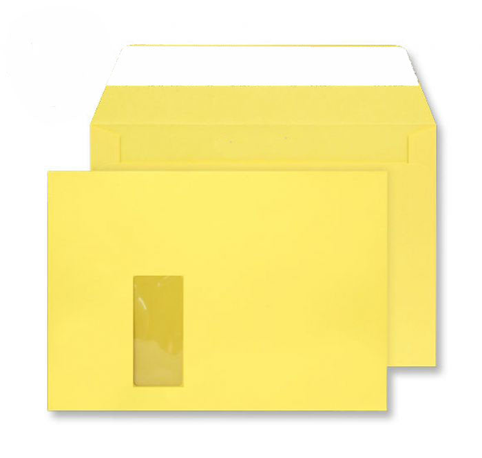 229 x 324mm C4 Cascade Canary Yellow Window Peel & Seal Wallet 5403W