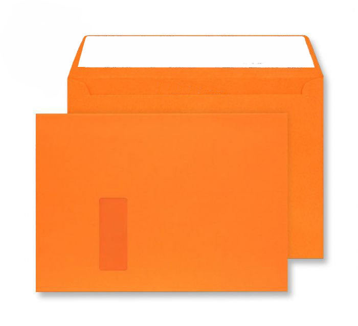 229 x 324mm C4 Cascade Sunset Orange Window Peel & Seal Wallet 5405W