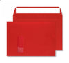 229 x 324mm C4 Cascade Pillar Box Red Window Peel & Seal Wallet 5406W