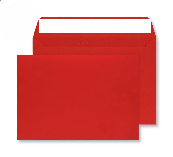 229 x 324mm C4 Cascade Pillar Box Red Peel & Seal Wallet [Pack 250] 5406