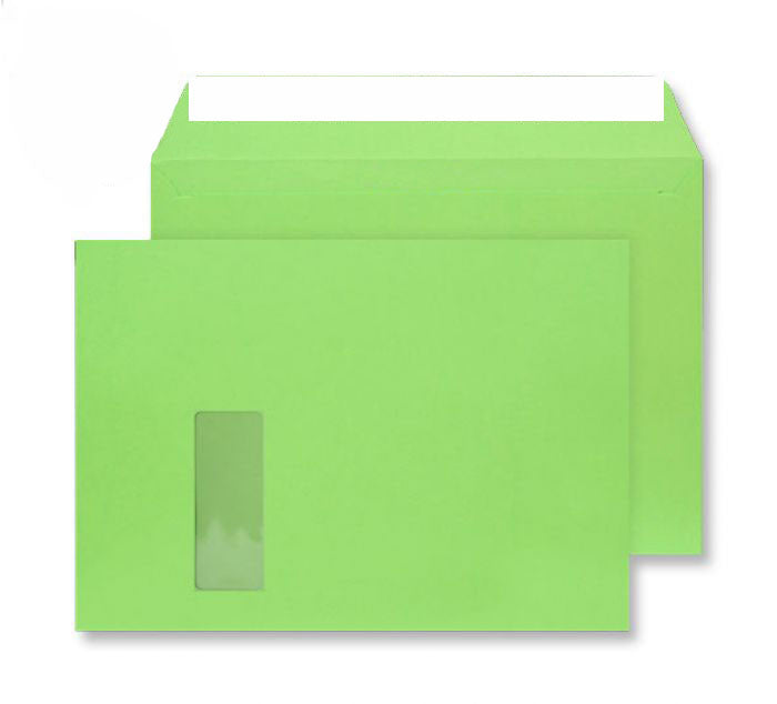 229 x 324mm C4 Cascade Lime Green Window Peel & Seal Wallet [Pack 250] 5407W