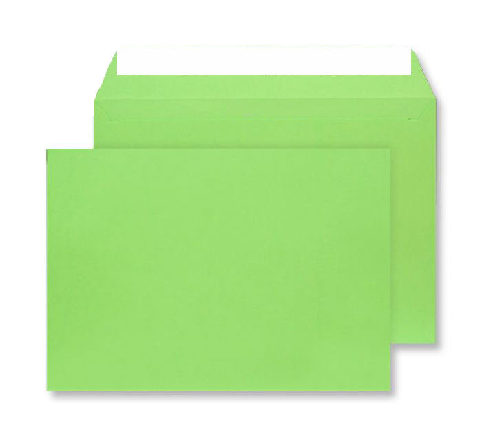 229 x 324mm C4 Cascade Lime Green Peel & Seal Wallet 5407