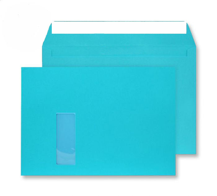 229 x 324mm C4 Cascade Pacific Blue Window Peel & Seal Wallet [Pack 250] 5409W