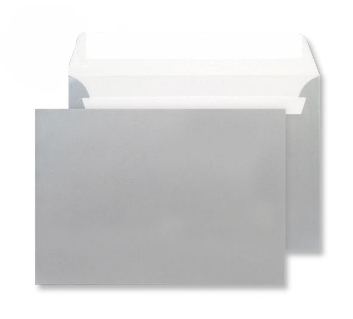 229 x 324mm C4 Cascade Silver Metallic Peel & Seal Wallet 5412