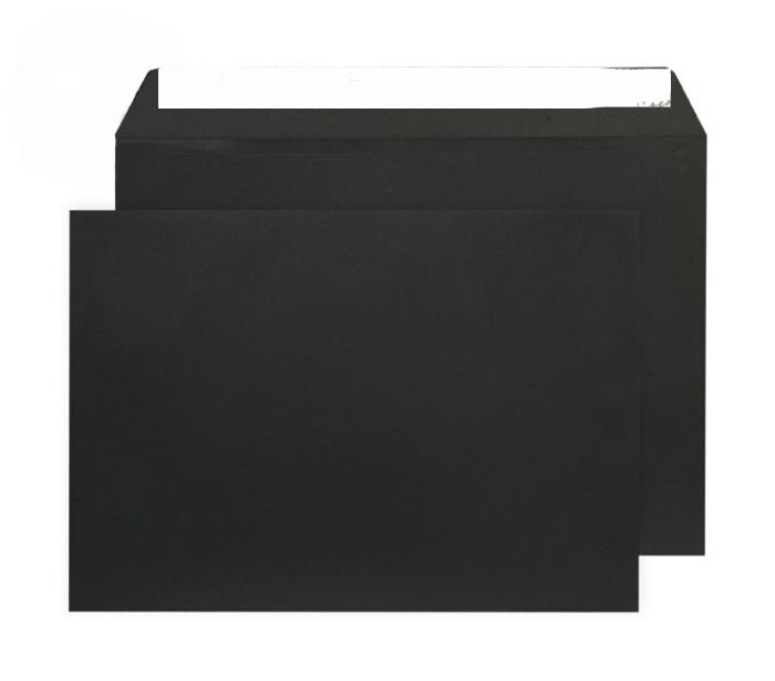229 x 324mm C4 Cascade Black Peel & Seal Wallet 5414