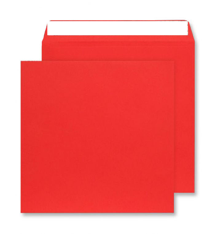 220 x 220mm  Cascade Pillar Box Red Peel & Seal Wallet 5506