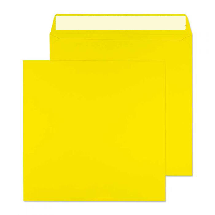 160 x 160mm  Cascade Canary Yellow Peel & Seal Wallet 5603
