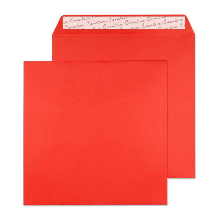160 x 160mm  Cascade Pillar Box Red Peel & Seal Wallet 5606