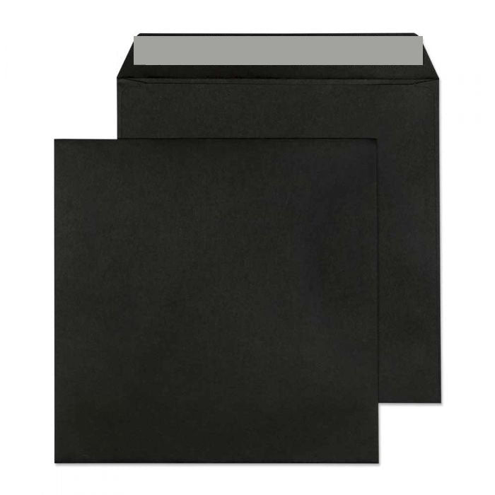 160 x 160mm  Cascade Black Peel & Seal Wallet 5657