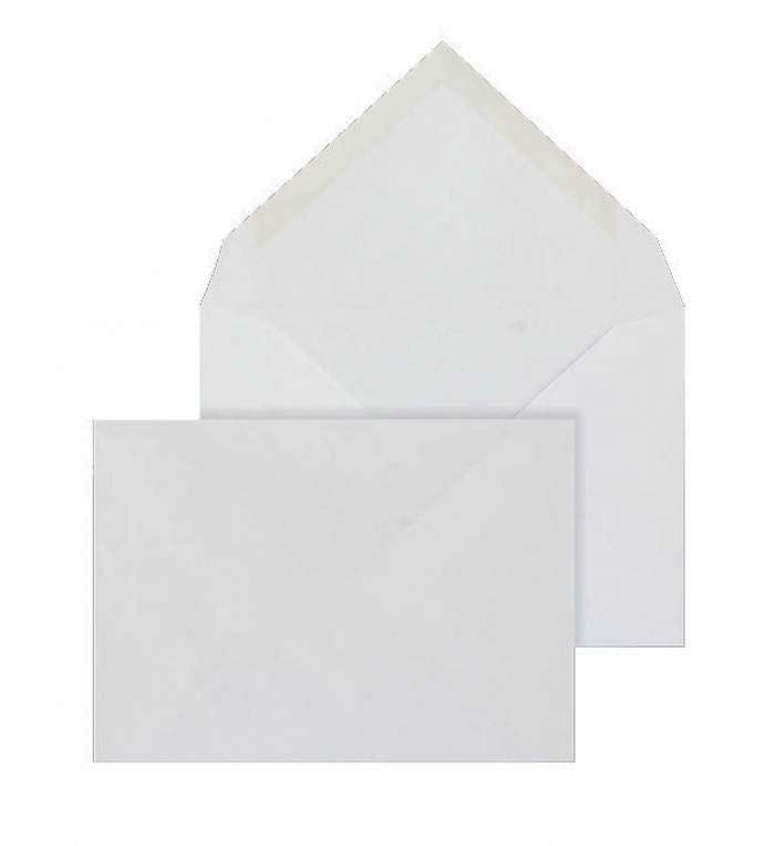 114 x 162mm C6 Brocken Plus White Wove Gummed Diamond flap 6216