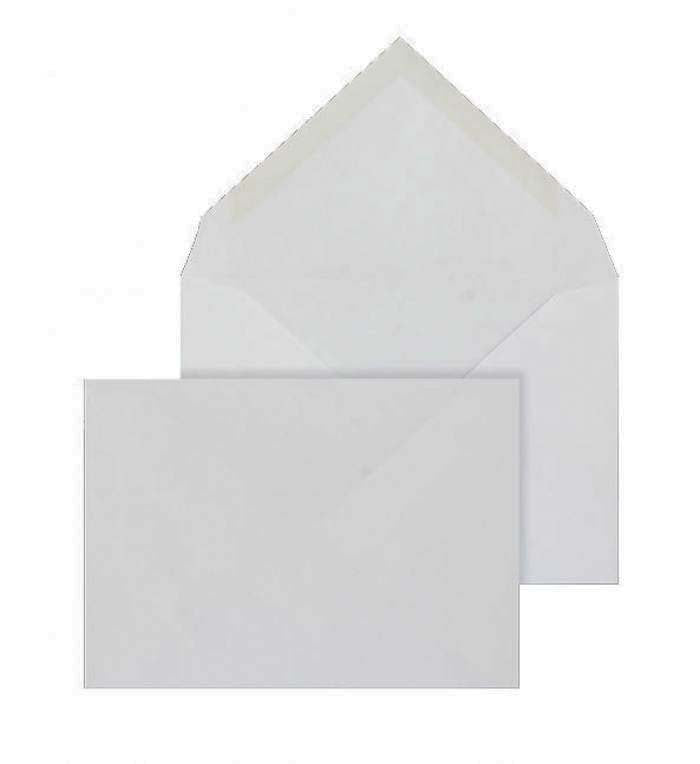 114 x 162mm C6 Brocken Plus White Wove Gummed Diamond flap 6217