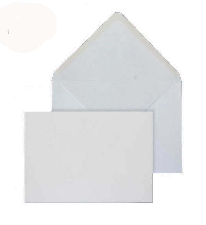 133 x 197mm  Brocken White Gummed Diamond flap 6835