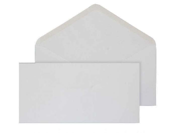 130 x 235mm  Brocken White Gummed Diamond flap 6859