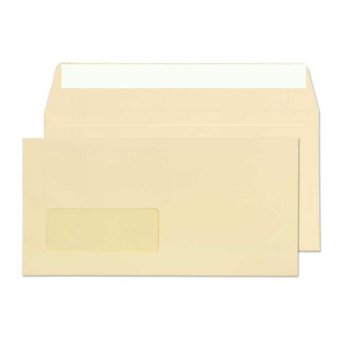 110 x 220mm DL Conqueror Vellum Window Laid Peel & Seal Wallet C01123